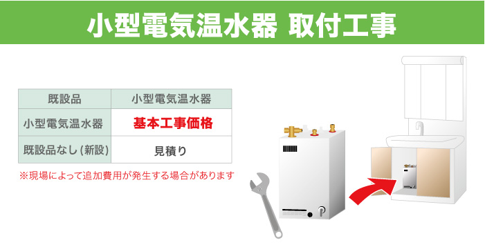 小型電気温水器取り替え工事